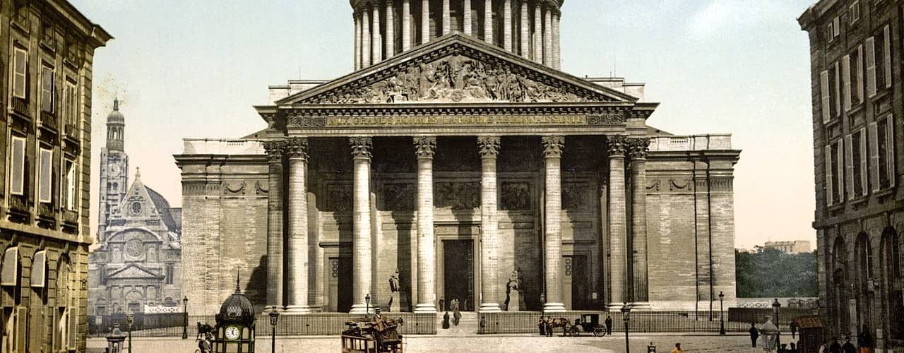 Pantheon Paris about the time after the construction