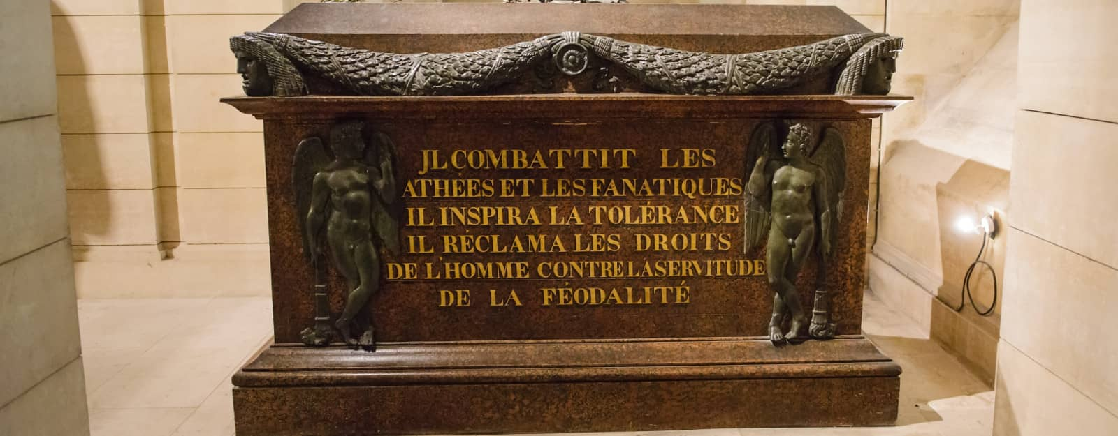 Pantheon Paris Voltaire's tomb photo